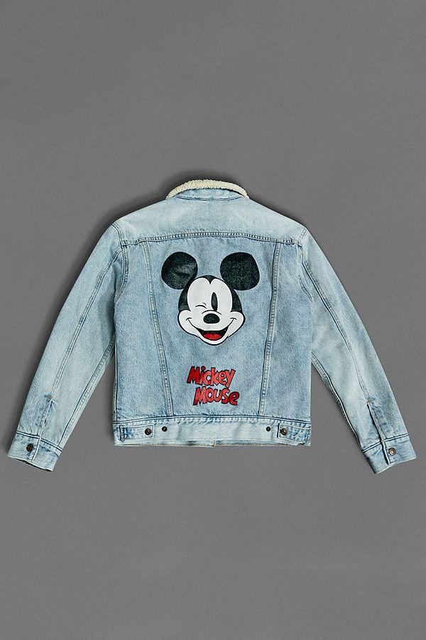 ffe5f4327 Levi s Mickey Mouse Ex-Boyfriend Denim Sherpa Trucker Jacket