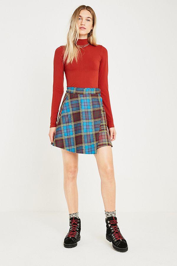 e80aa25e8e98a7 House Of Holland - Mini-jupe à carreaux écossais