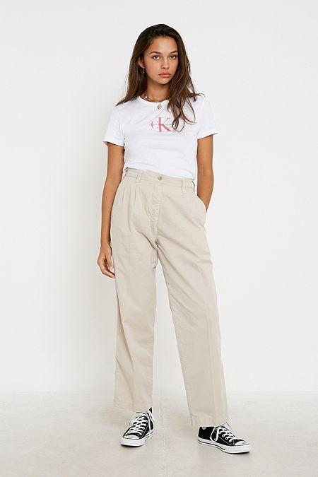Calvin Klein – Moderner Triangel BH aus Baumwolle in dunklem Weinrot