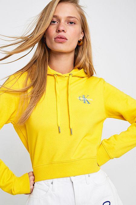 581f5f1304431 Calvin Klein Jeans Lemon Monogram Logo Hoodie