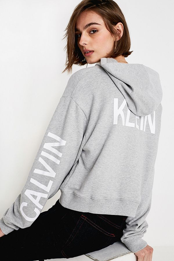 495aa81d47f9 Calvin Klein Jeans Institutional Logo Grey Hoodie