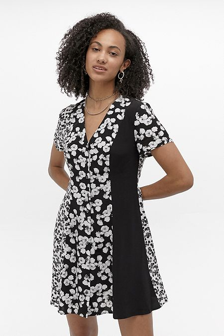 Calvin Klein Floral Panelled Mini Dress