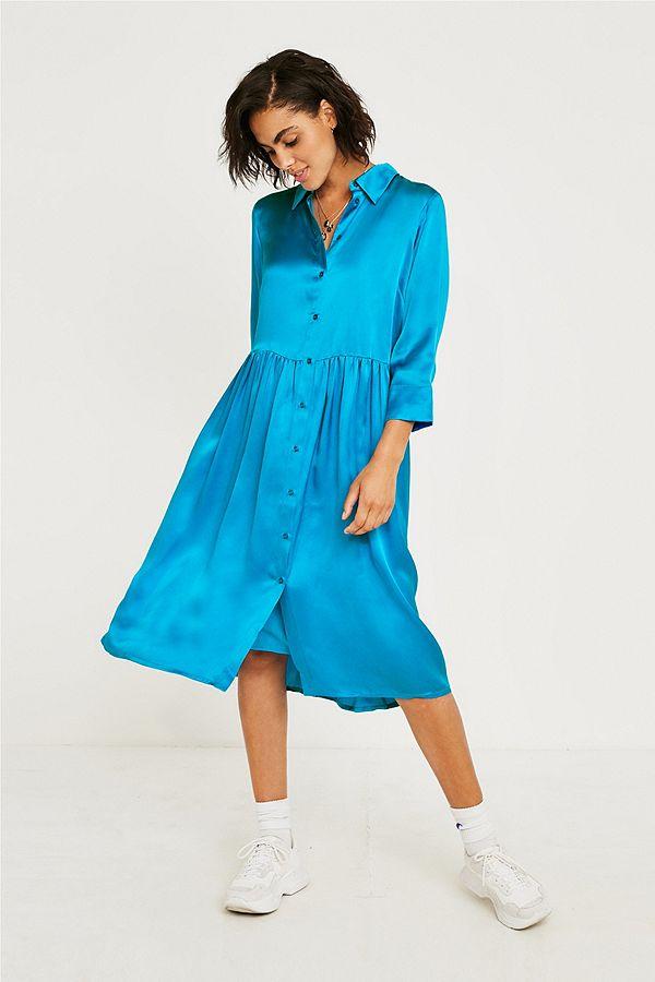 En Soie Outfitters Gestuz Chemise Fr BleueUrban Robe Kamma mNOyvwn80