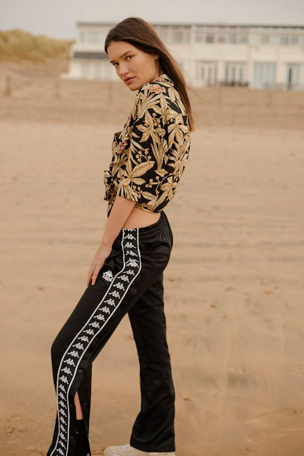 b13166503380 Kappa Black Taping Popper Track Pants
