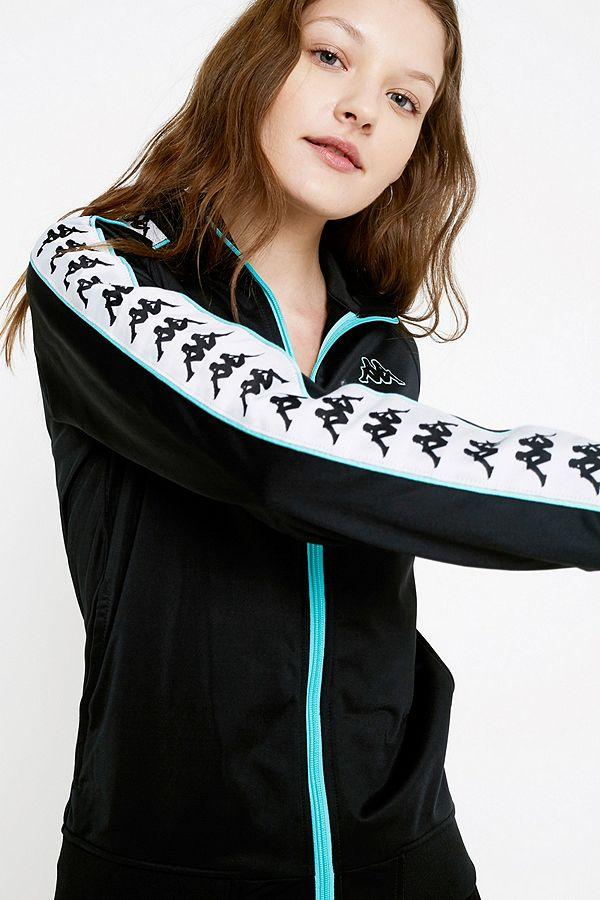 f8146b6f9f8 Kappa Wanniston Black Zip-Through Track Top | Urban Outfitters UK