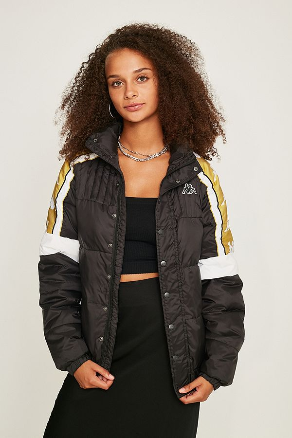 Kappa Banda Black and White Puffer Jacket