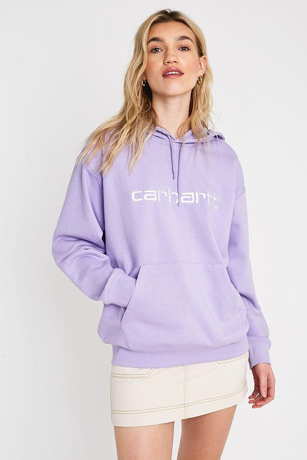 Carhartt WIP Sweat à capuche lilas avec logo