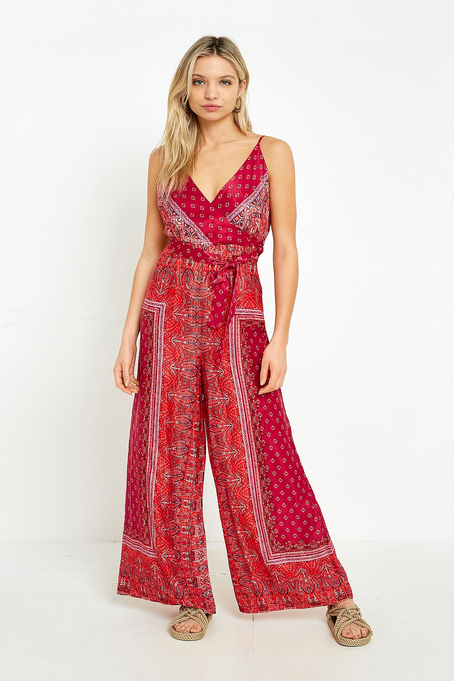015fea27440c Free People Cabbage Rose Printed Jumpsuit