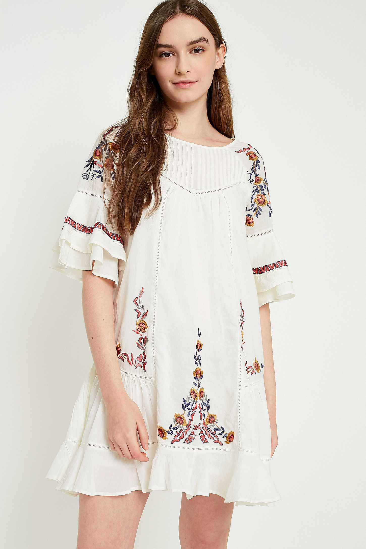 674f371274a4 Free People Pavlo Floral Embroidered Dress