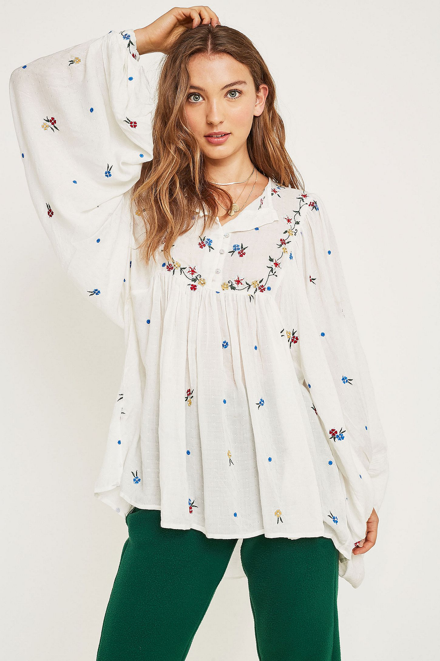 1978ea32035 Free People Kiss From A Rose Embroidered Blouse. Click on image to zoom.  Hover to zoom. Double Tap to Zoom