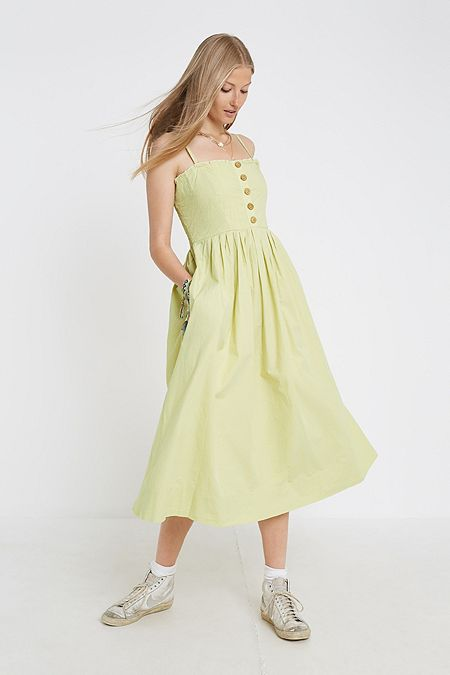 786e8038999c Free People Lilah Lime Midi Dress