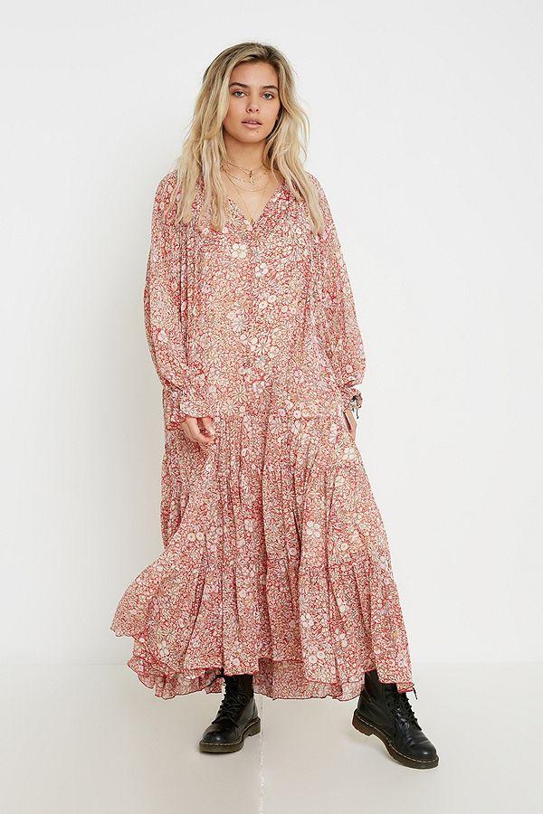 style de mode style le plus récent divers design Free People - Robe longue à fleurs sensation cool