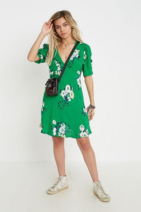 b80b19b0d8 Free People Neon Garden Green Mini Dress