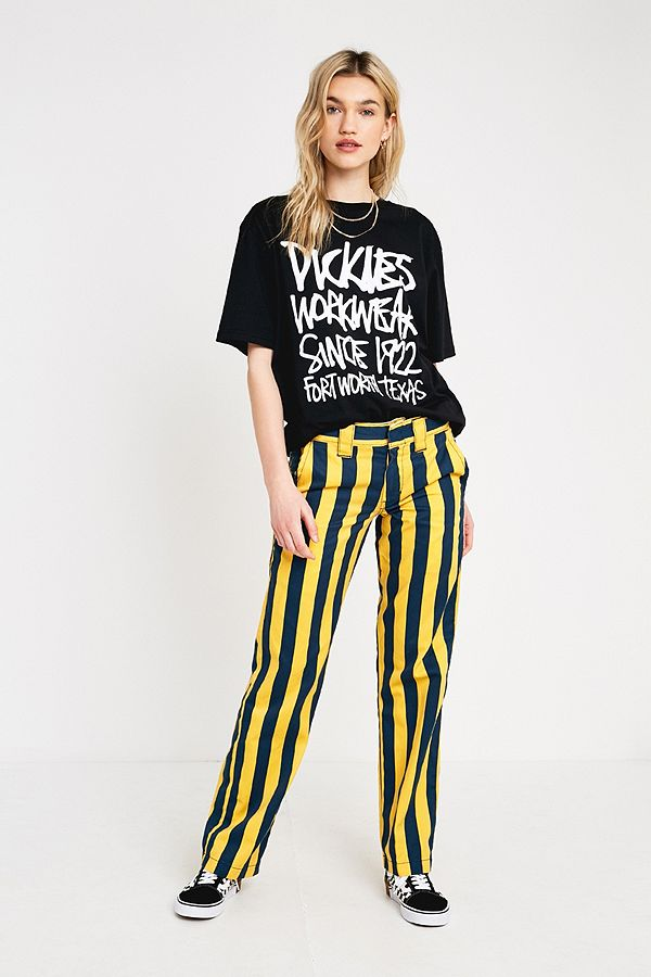 numerousinvariety cheap price cheapest sale Dickies Yellow Wide Stripe Workwear Trousers