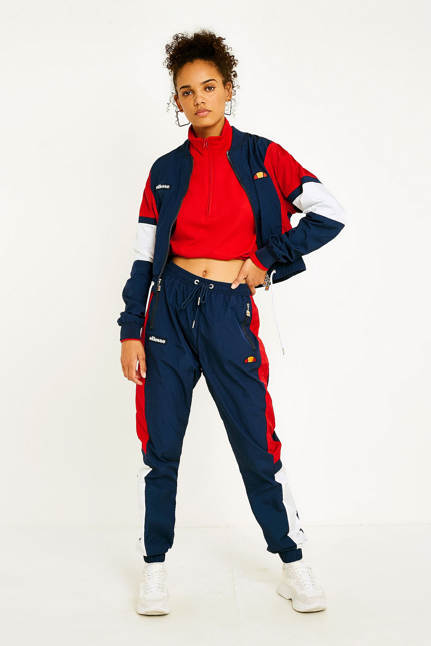 164ce8e9 Ellesse Navy Panel Shell Track Pants. Click on image to zoom. Hover to  zoom. Double Tap to Zoom