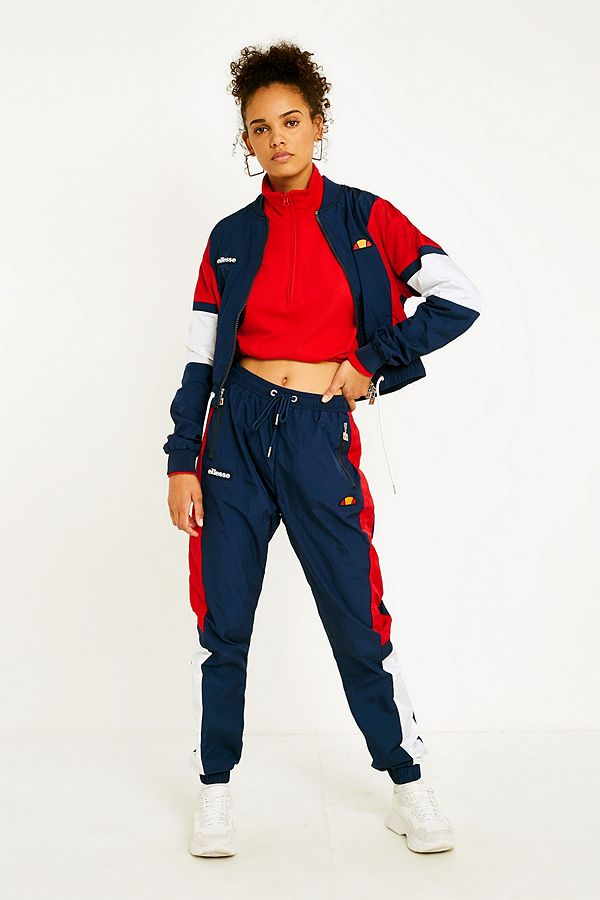 805ab52937 Ellesse Navy Panel Shell Track Pants