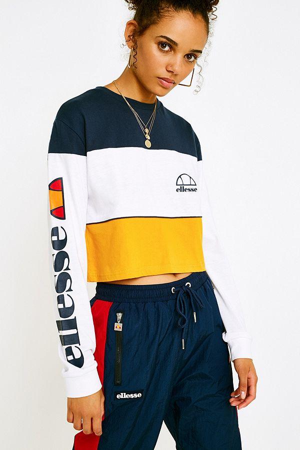1c235f72f9 Ellesse Amalfi Long-Sleeve Crop T-Shirt