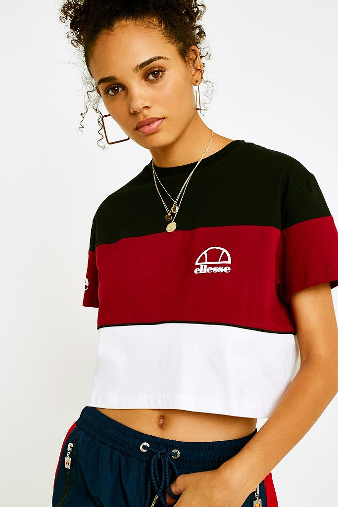Ellesse Amalfi Crop T Shirt | Urban Outfitters FR