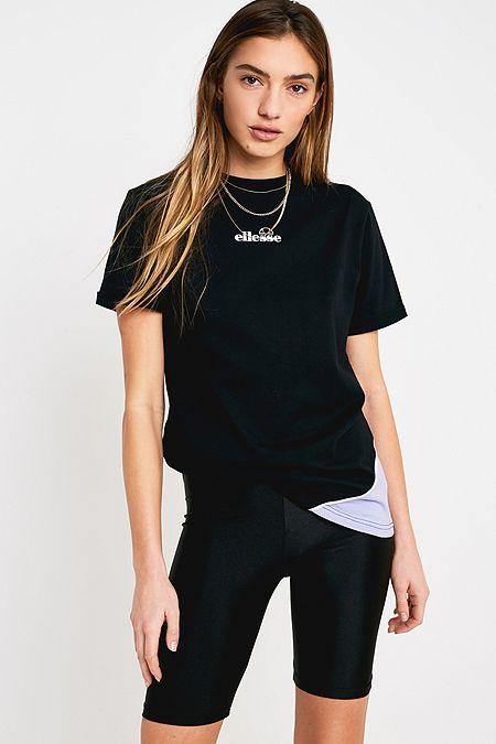 c9f3db5b71e67f Ellesse Black + Lilac Boyfriend T-Shirt