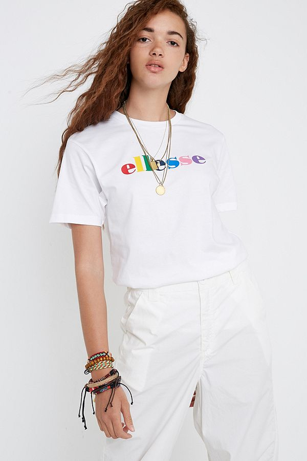 b72743d9ccd617 Ellesse Pia Rainbow Logo T-Shirt | Urban Outfitters UK