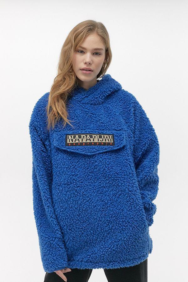Napapijri Sweat à capuche en polaire bleu