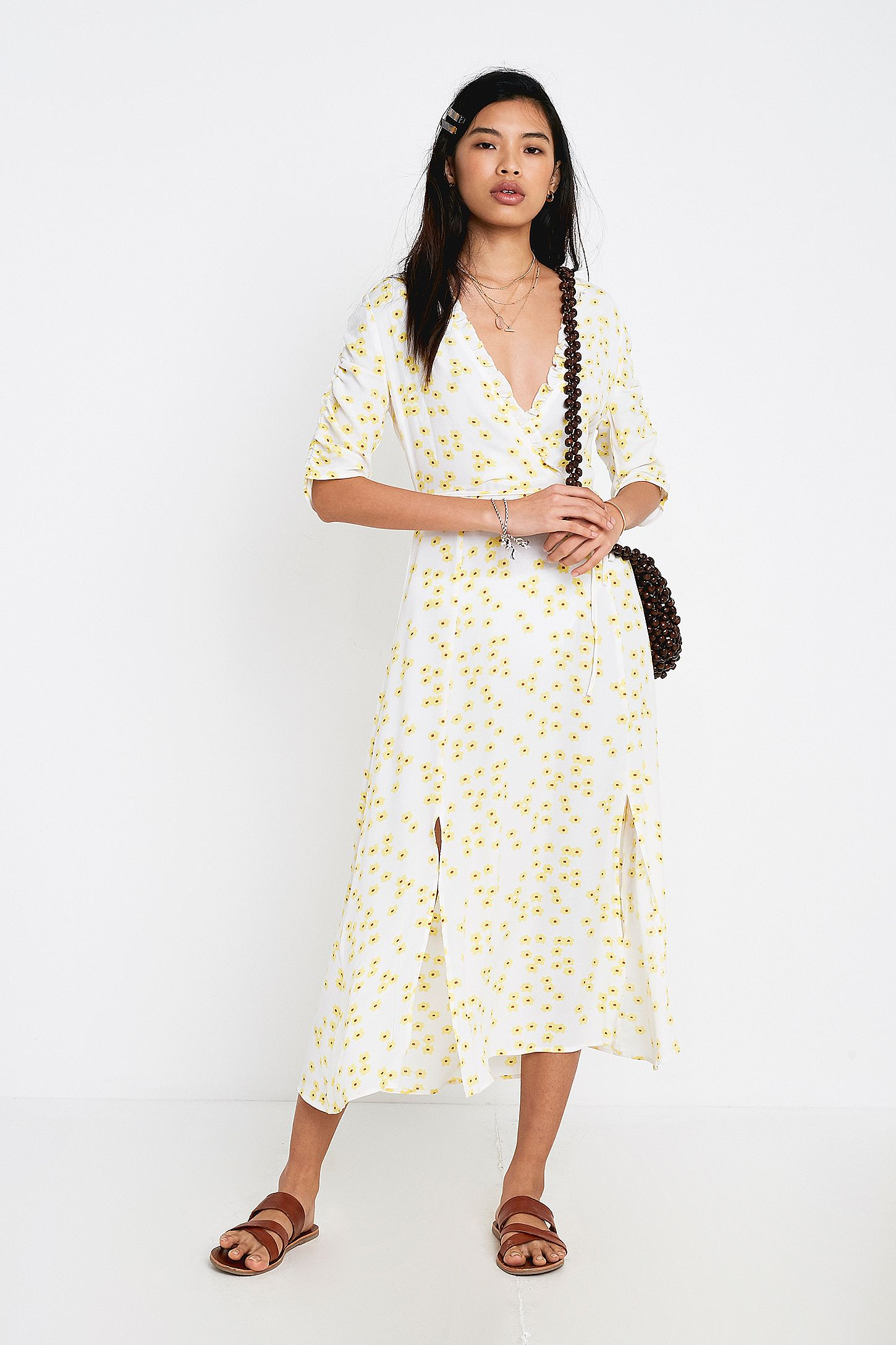 0d95e12e78f46d NARRATED Floral Print Wrap Maxi Dress | Urban Outfitters UK