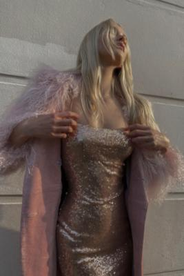 Narrated Strappy Sequin Mini Dress by Narrated