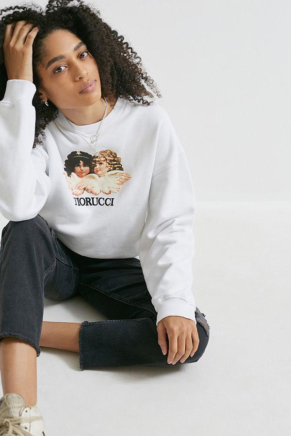 Fiorucci Vintage Angels– Weißes Sweatshirt Mit Rundhalsausschnitt by Fiorucci Vintage Angels Shoppen