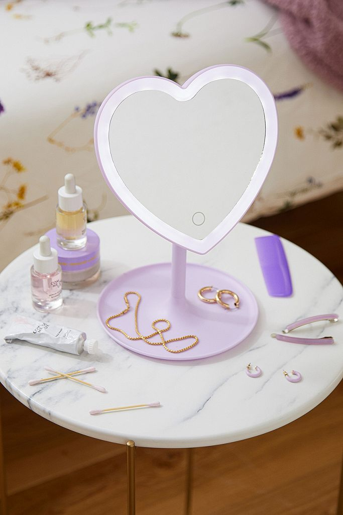 Heartbeat Makeup Vanity Mirror Urban Outfitters Uk