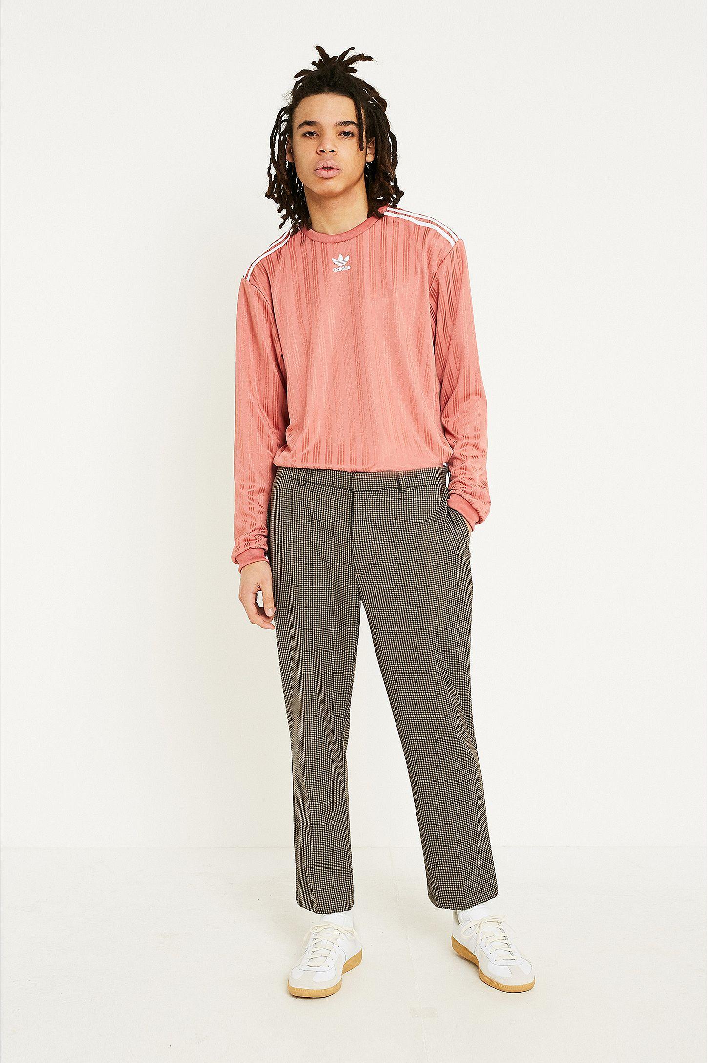 d2917f84fd55 adidas Dusty Pink Long-Sleeve Football Jersey Top