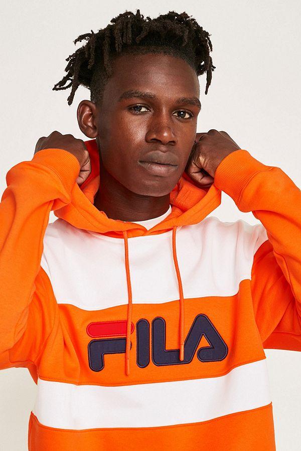 pull fila orange homme