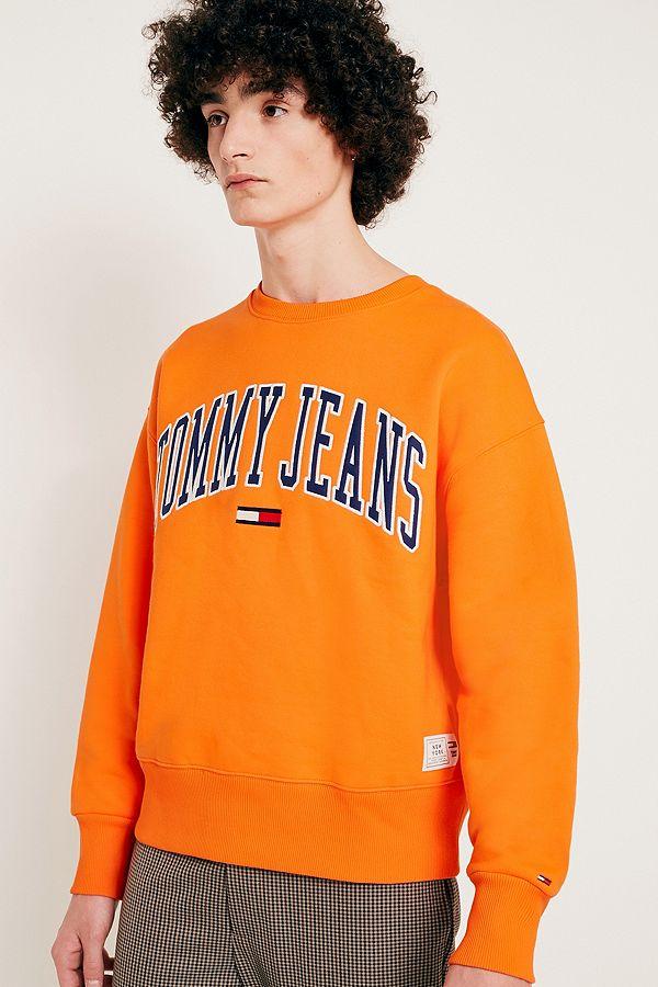 niedriger Preis Qualität zuerst damen Tommy Jeans Collegiate Orange Sweatshirt