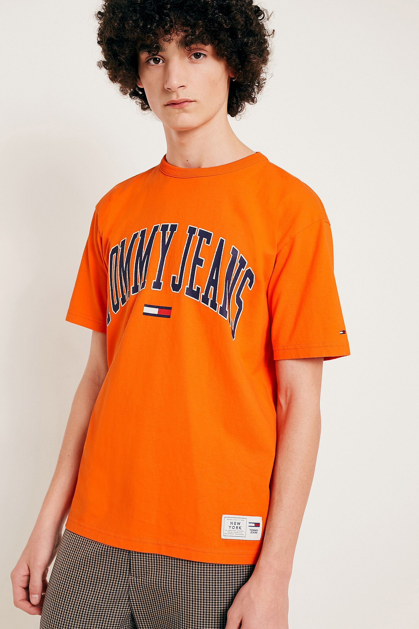 81ac8fa2 Tommy Jeans Collegiate Orange T-Shirt | Urban Outfitters UK