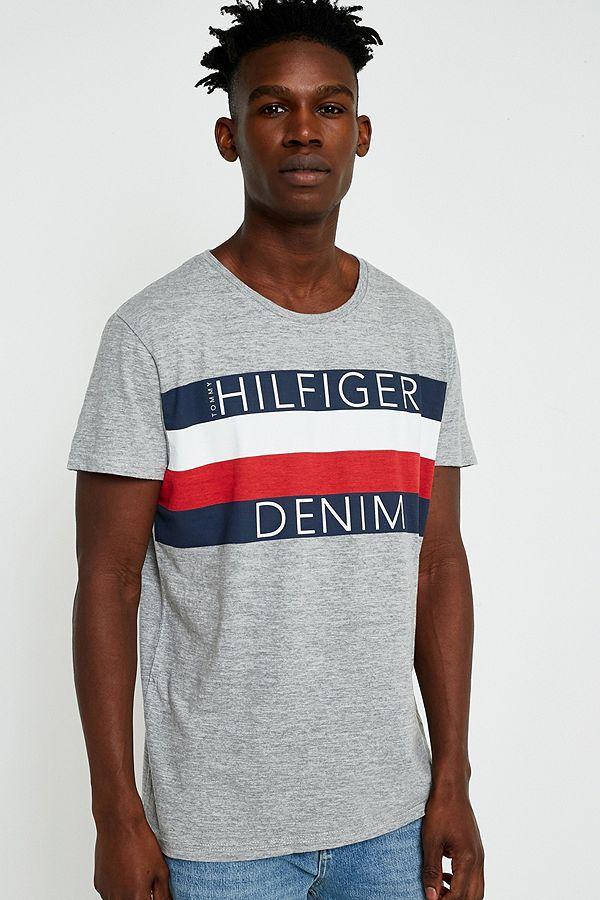 be87037124 Tommy Jeans Grey Hilfiger Denim T-Shirt