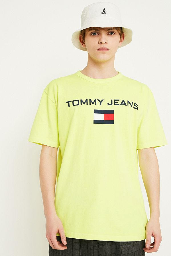 344c9c0b87a Tommy Jeans  90s Logo Yellow T-Shirt