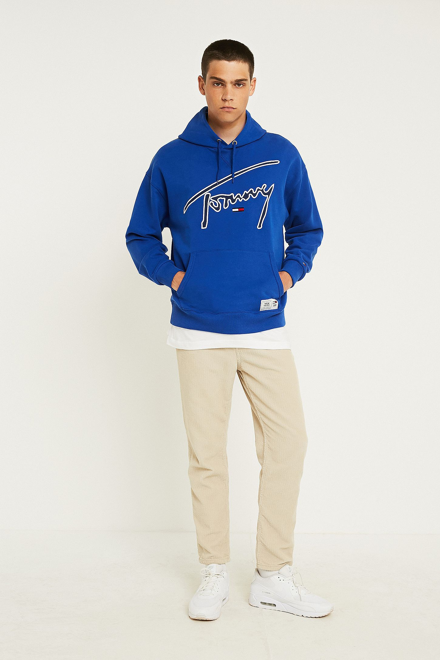 ce05c3478 Tommy Jeans Signature Blue Hoodie. Click on image to zoom. Hover to zoom.  Double Tap to Zoom