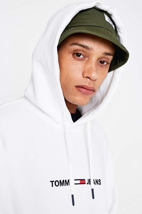 b95bd0efae2e4f Tommy Jeans Small Logo White Hoodie