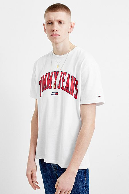 8f253c1c Tommy Jeans Collegiate White T-Shirt