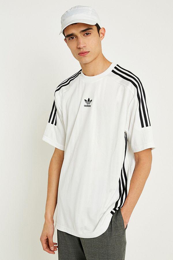 adidas 3 Stripe T Shirt weiß