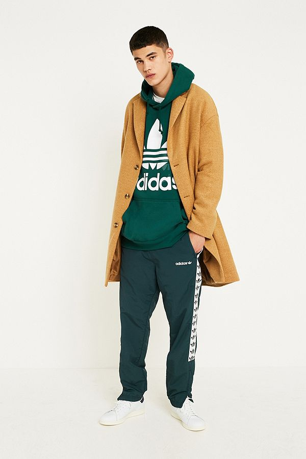 pretty cool amazon high quality adidas Oversized Green Trefoil Hoodie