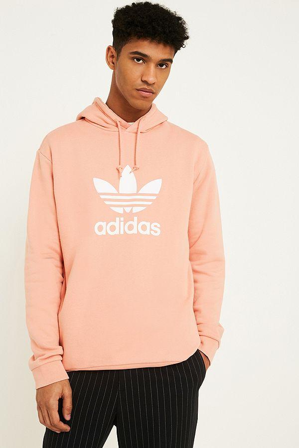 ab39c84bc7543 adidas Trefoil Pink Hoodie