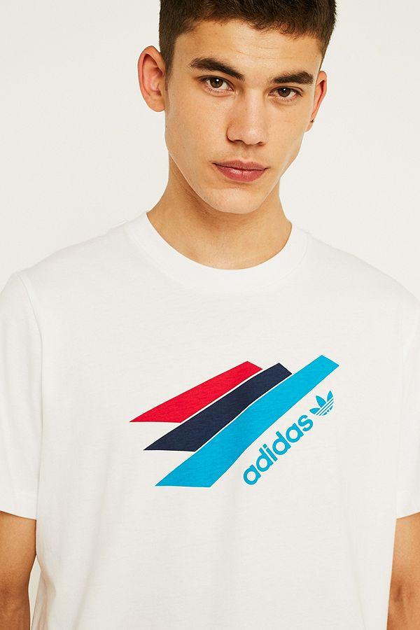 "adidas – T Shirt ""Palmeston"" in Weiß"