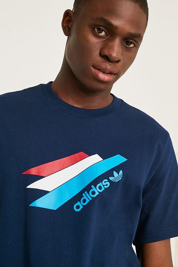 "adidas – T Shirt ""Palmeston"" in Marineblau"