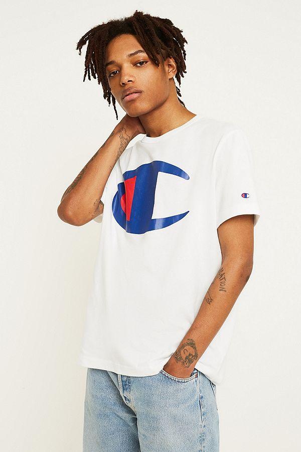 e0ed35b8 Champion Large C Logo White T-Shirt | Urban Outfitters UK