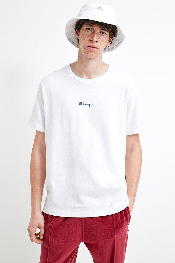 low price ever popular hot product Champion - T-shirt avec petit logo Script blanc exclusivité UO
