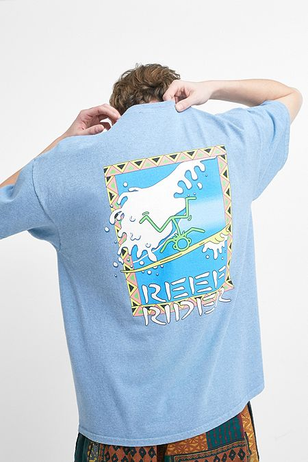 126be67b6a UO Reef Rider Blue Marl T-Shirt