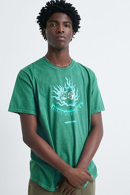 806dbf8d581 Graphic Tees. UO Distortion Teal T-Shirt