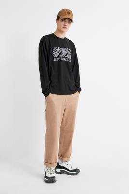 Uo Bern Black Reflective Long Sleeve T Shirt by Urban Outfitters