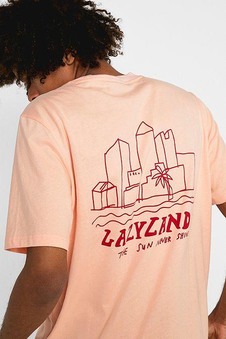 ac8312473 Lazy Oaf Sun Never Shines Pink T-Shirt