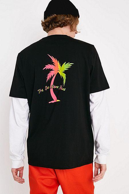 896e90411250 Lazy Oaf Sad Palm Tree T-Shirt